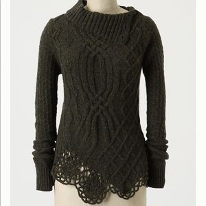 Anthropologie | Cabled Pathways Pullover